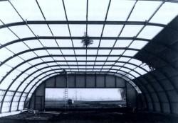 Der neue Hangar im Rohbau